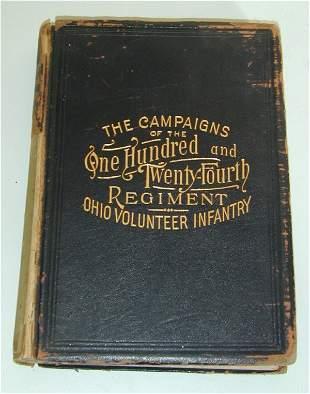 CIVIL WAR BOOK CAMPAIGNS OF THE 124TH R
