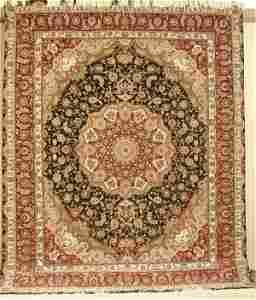 5496: FINE SILK & WOOL PERSIAN TABRIZ 8 X 10