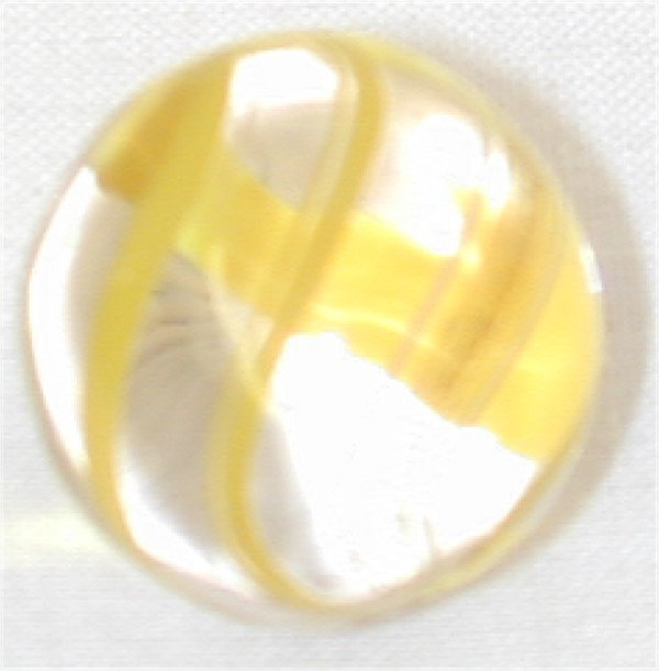 """135G: 5/8"""" CLEAR YELLOW RIBBON LUTZ MARBLE"""