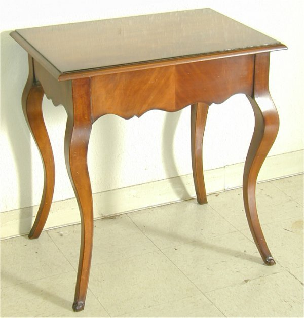 5001: CUSTOM MAHOGANY RECT SIDE TABLE W/CABRI
