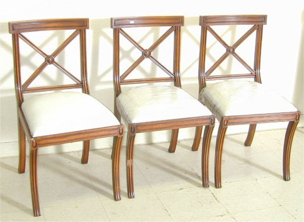 5003: (3) CUSTOM FRENCH STYLE CHAIRS W/SABRE