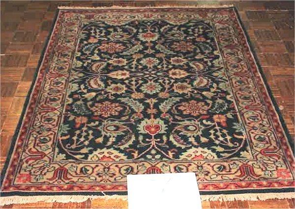 1007: ANTIQUE FINISH INDO PERSIAN MAHAL 4 X 5