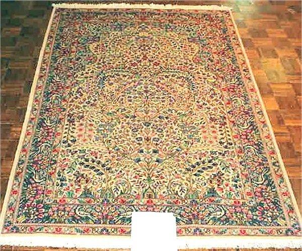 1012: FINE PERSIAN LAVAR KIRMAN 5 X 8
