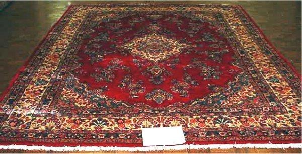 1015: FINE PERSIAN KAZVIN 8.8 X 12