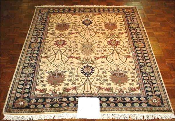 1023: ANTIQUE FINISH INDO PERSIAN MAHAL 5.6 X