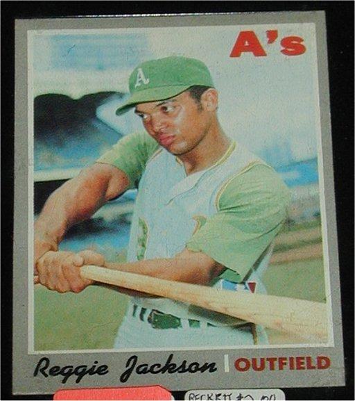 211 Topps 1970 Reggie Jackson Baseball Card Nov 23 2003