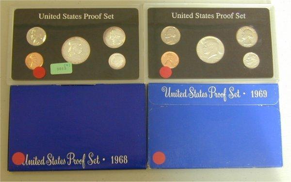 3015: LOT OF (4) U.S. PROOF SETS 1963, 1964,