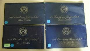 LOT OF (4) 1971-1973 IKE UNC SILVER DOL