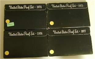 LOT OF (4) U.S. PROOF SETS 1974, 1975,
