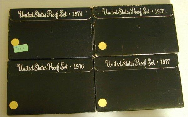 3018: LOT OF (4) U.S. PROOF SETS 1974, 1975,