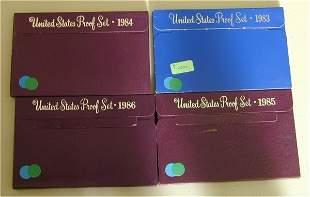 LOT OF (4) U.S. PROOF SETS 1983, 1984,