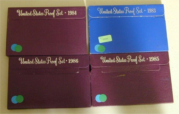 3021: LOT OF (4) U.S. PROOF SETS 1983, 1984,