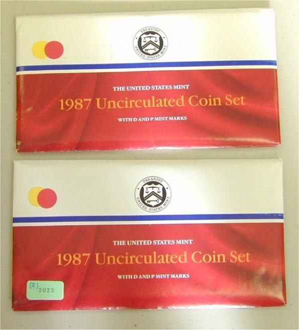 3025: LOT OF (2) U.S. MINT SETS 1987