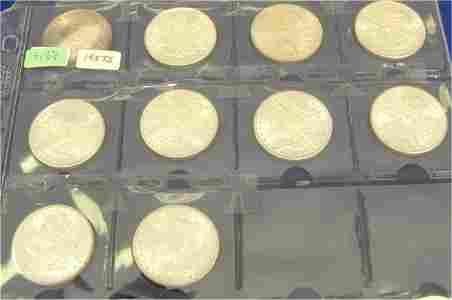 3158: LOT OF (10) MORGAN DOLLARS 1882-S B.U.
