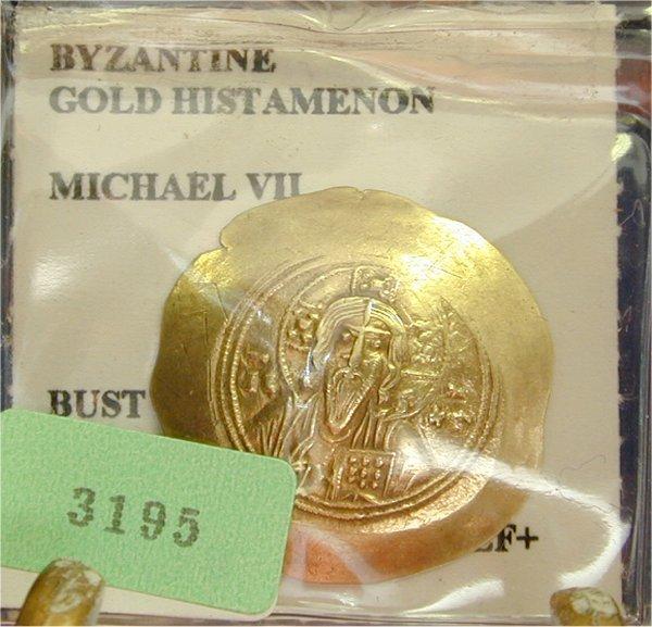 3195: BYZANTINE EMPIRE GOLD HISTAMENON MICHAE
