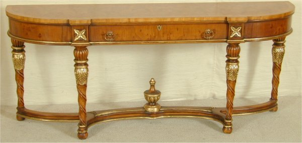 5013: ITALIAN STYLE CONSOLE TABLE W/SINGLE DR