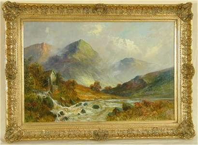 5381: WILLIAM LANGLEY OIL ON CANVAS MOUNTAIN