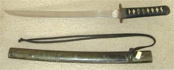 "97: JAPANESE SAMURAI SHORT SWORD BLADE 14"" L"