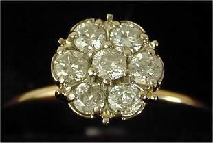 14K Y G .25 CT TW DIAMOND FASHION RING,