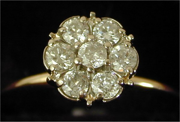 1405: 14K Y G .25 CT TW DIAMOND FASHION RING,
