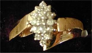 10K Y G .25 CT TW DIAMOND FASHION RING,