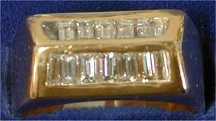 14K Y G 1 3/4 CT TW BAGUETTE DIAMOND GE