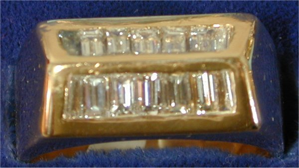 1420: 14K Y G 1 3/4 CT TW BAGUETTE DIAMOND GE