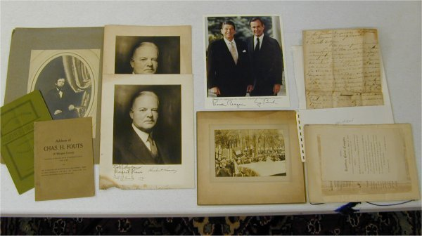 3503: LOT OF POLITICIAL ITEMS INCL 1886 INAUG
