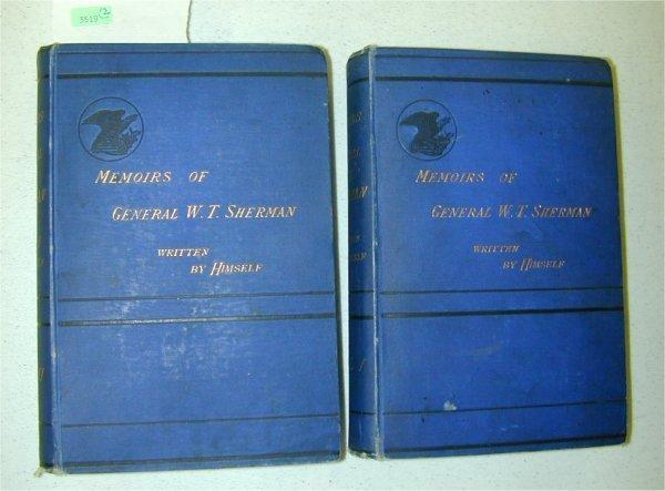 3519: BOOK - VOL 1 & 2 MEMOIRS OF GENERAL W.