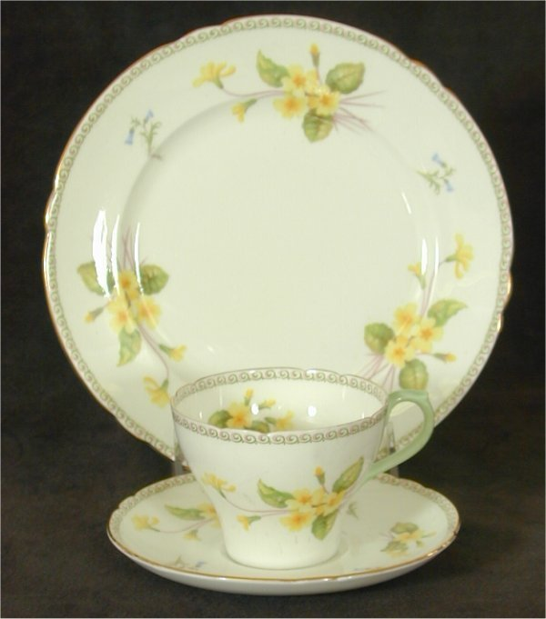 "5004: SHELLEY CHINA CUP, SAUCER & 8"" PLATE W/"