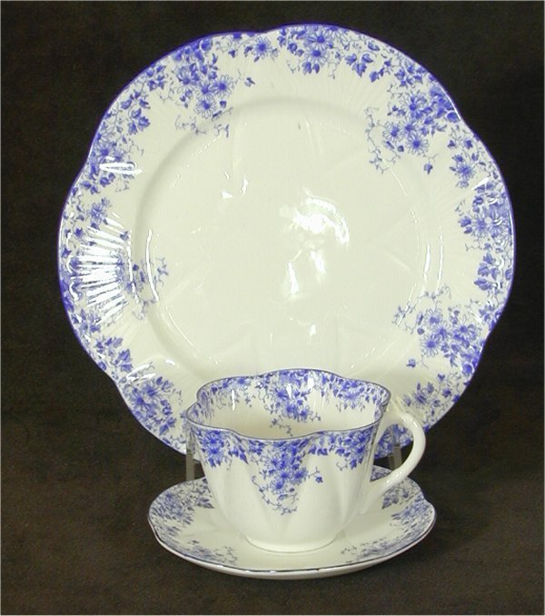 "5005: SHELLEY CHINA ""DAINTY BLUE"" CUP & SAUCE"