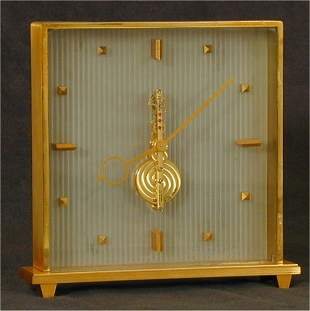 L E COULTRE GOLD PLATED 16 JEWEL CONTEM