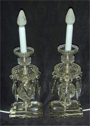 PR CRYSTAL PRISMED ONE LIGHT TABLE LAM