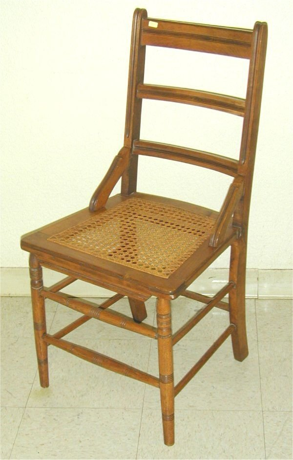 5017: MAPLE LATE VICT CHAIR W/CANED SEAT