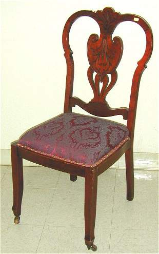 MAPLE TURN OF THE CENTURY SIDE CHAIR W/