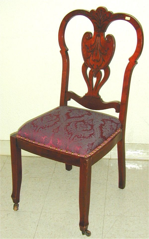 5018: MAPLE TURN OF THE CENTURY SIDE CHAIR W/