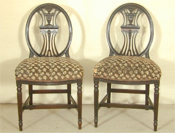 5020: PR 1920'S OVAL BACK SIDE CHAIRS W/URN C