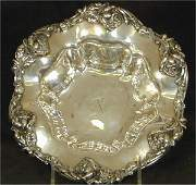 5566 STERLING BOWL WEMBOSSED ROSE BORDER W