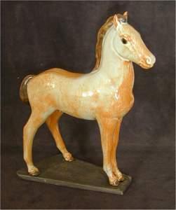 5660: NICODEMUS HORSE ANTIQUE IVORY, SIGNED W