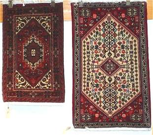 1: TWO FINE PERSIAN BIJAR AND ABADEH 1.8 X 2.