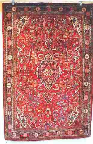 8: SEMI ANTIQUE PERSIAN FARAHAN SAROUK 4.6 X