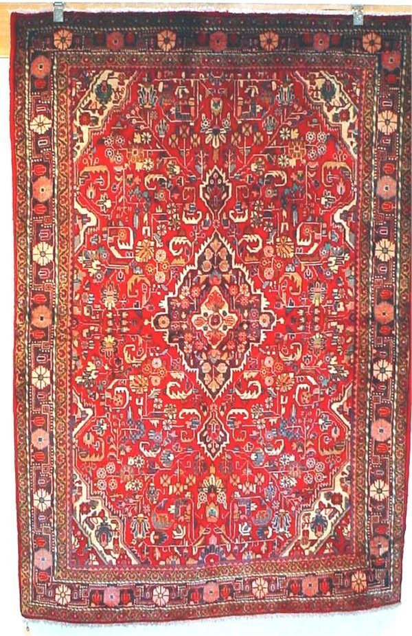 8: SEMI ANTIQUE PERSIAN FARAHAN SAROUK 4.6 X