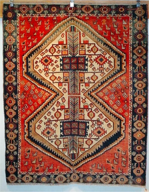 15: SEMI ANTIQUE PERSIAN AFSHAR 4.8 X 6