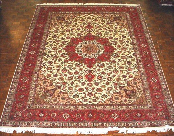 15A: FINE PERSIAN TABRIZ SILK AND WOOL 8.5 X