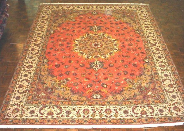 55A: FINE PERSIAN TABRIZ SILK AND WOOL 9.8 X