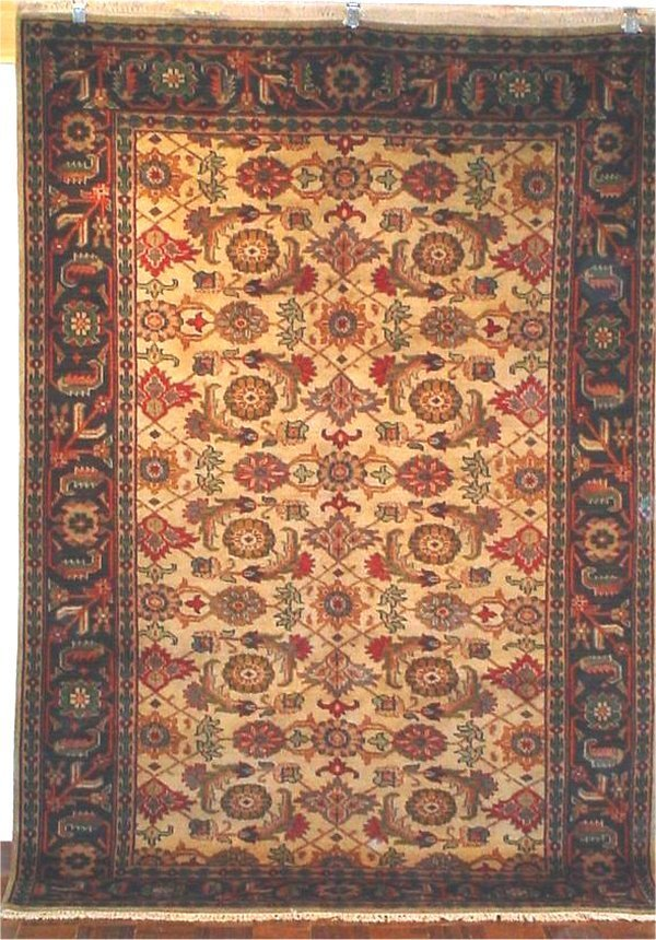 73: ANTIQUE FINISH INDO PERSIAN MAHAL 6 X 9