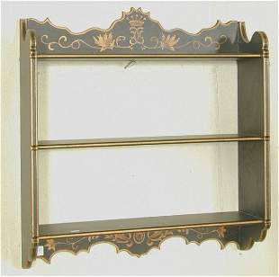TOLE PAINTED HANGING SHELF