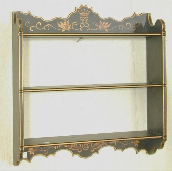 5004A: TOLE PAINTED HANGING SHELF