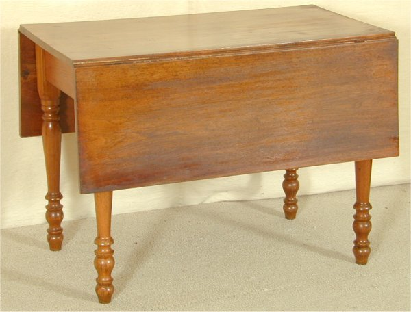 "5501: WALNUT SHERATON DROP LEAF TABLE 39 1/2""L X 22""W X"
