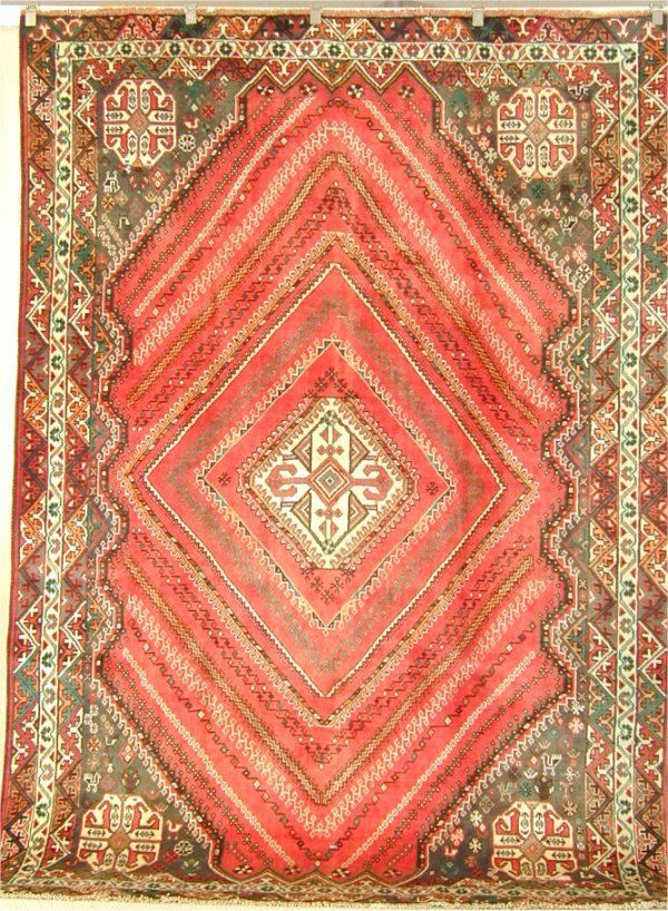 5938: ORIENTAL RUG SEMI ANTIQUE PERSIAN AFSHAR 6.8 X 9.
